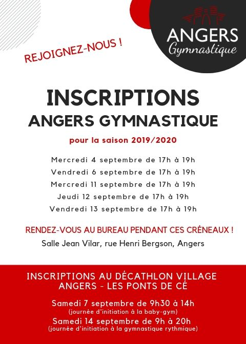 Inscriptions Angers Gym 2019_2020